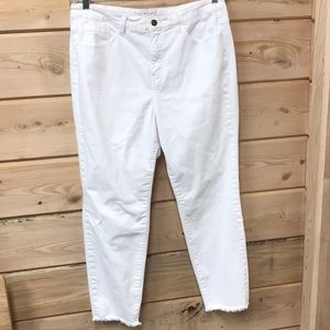 Soft Surroundings Metamorphic White Cropped Jeans